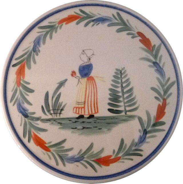Trivet w/ Woman in Apron