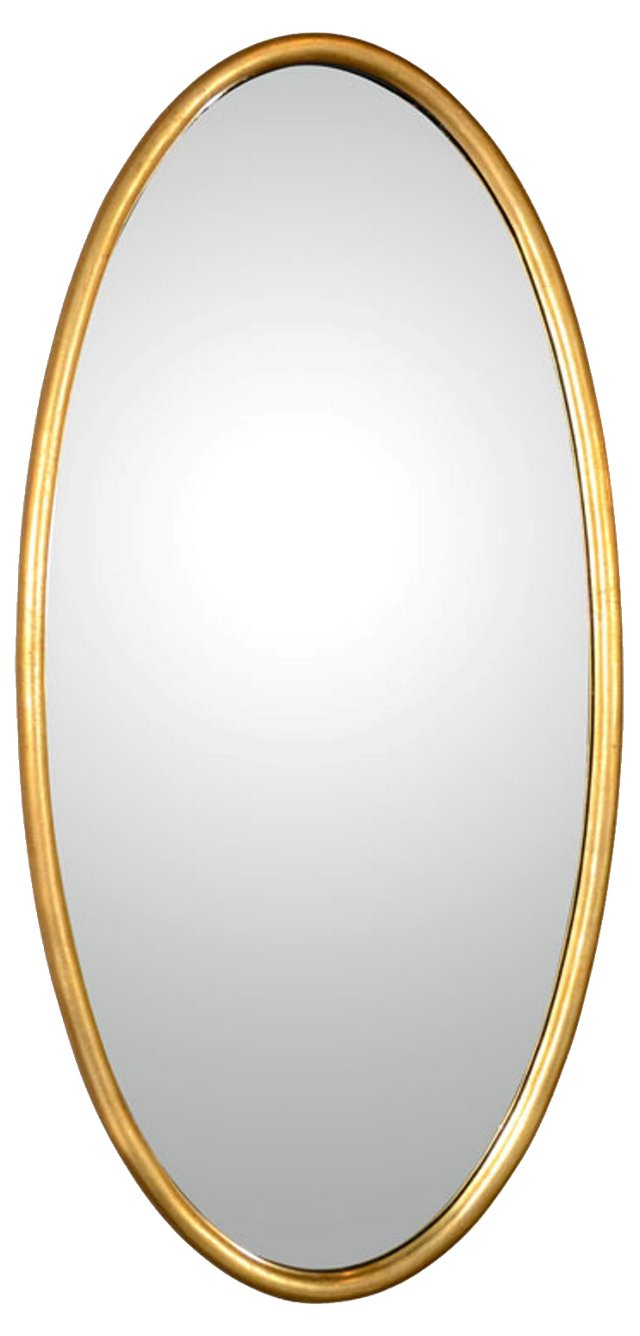 La Barge Gold Oval Mirror (SOLD March 2014)
