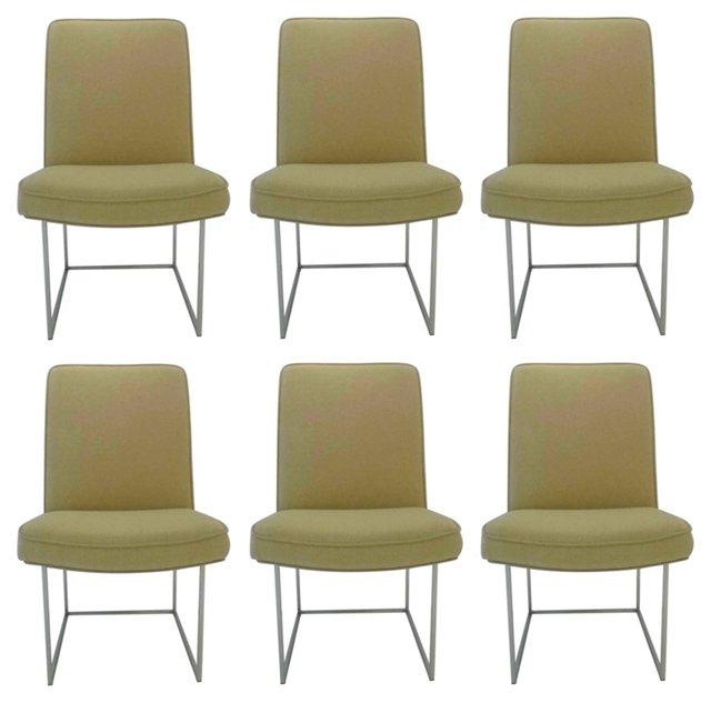 Milo Baughman Dining Chairs, S/6