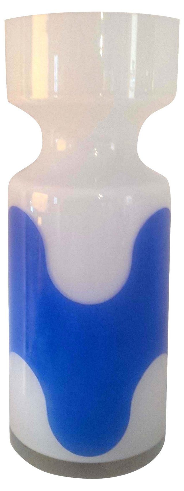 Raymor Blue & White Art Glass Vase