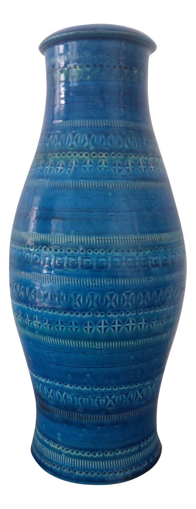 Blue Ceramic Vase by Flavia