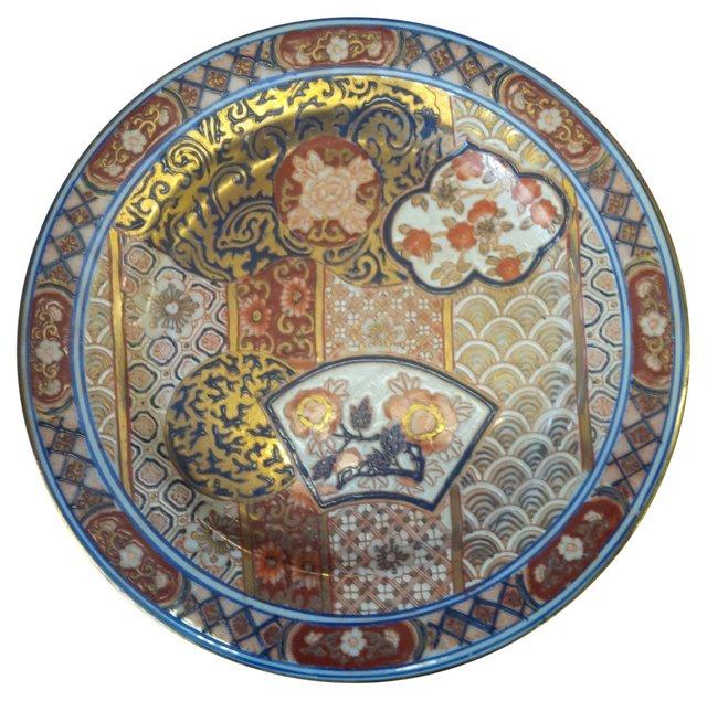 19th-C. Japanese Imari Plate