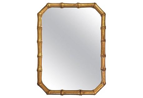 1960s Gilt Faux-Bamboo Mirror