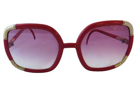 Ted Lapidus Red Sunglasses