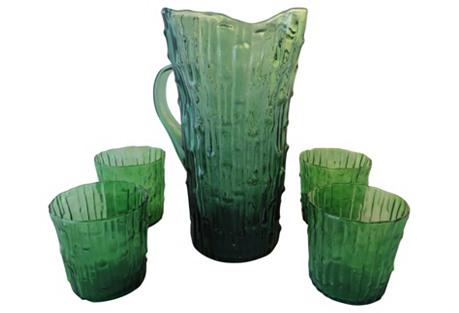 Imperial Bambu Verde Beverage Set, 5-Pcs