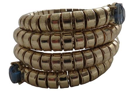 Goldtone Metal Coil Bracelet