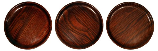 Teak Trays, Set of 3