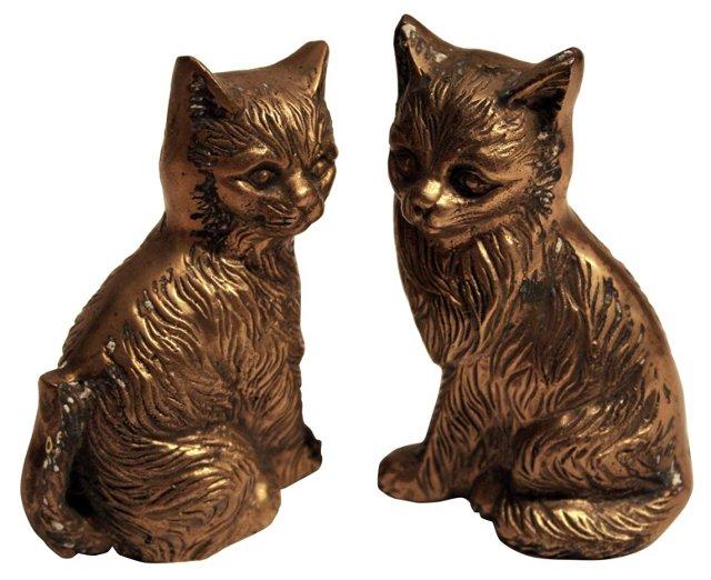 Brass Kittens, Pair