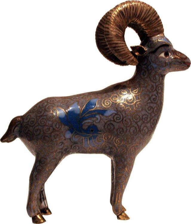 Cloisonné Ram
