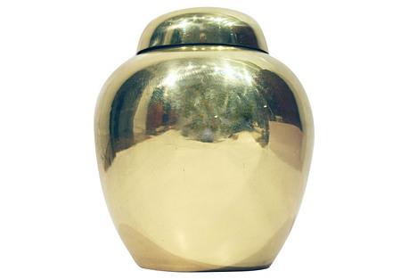 Brass Lidded Urn