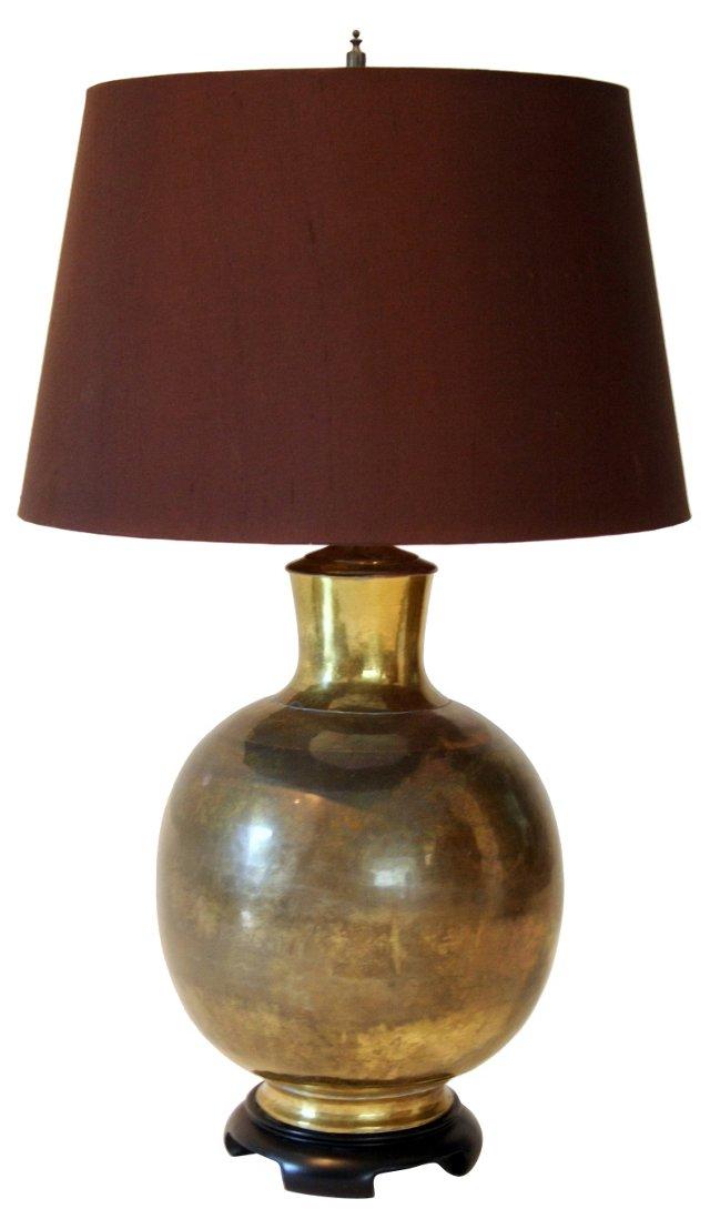 Paul Hanson Chinoiserie Brass Lamp