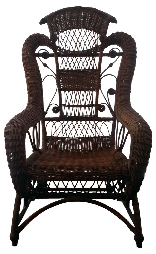 Antique English Wicker Chair