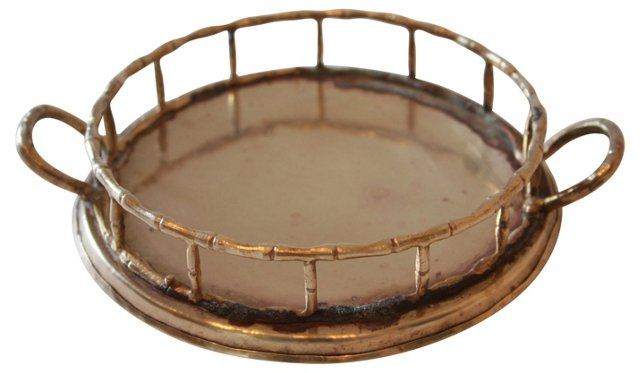 Bamboo-Style Round Tray