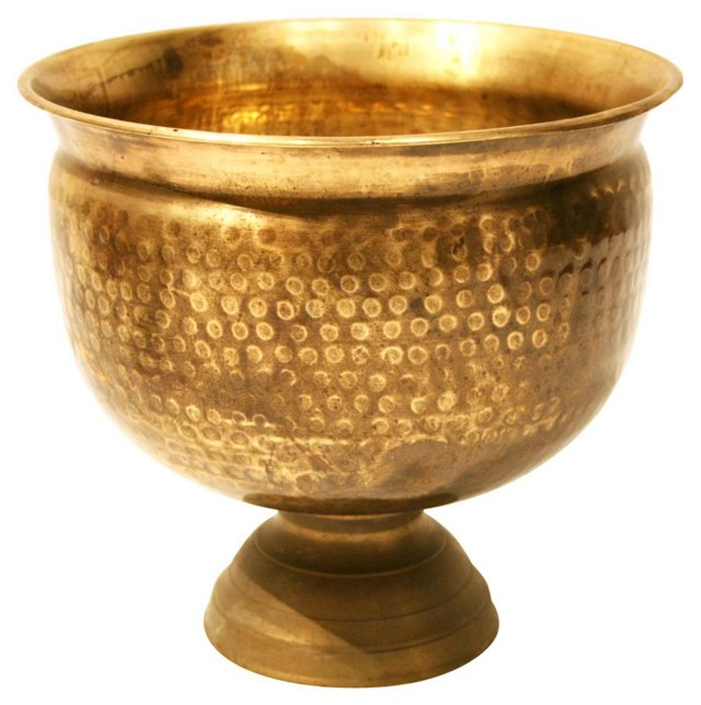 Oversize Brass Footed Planter