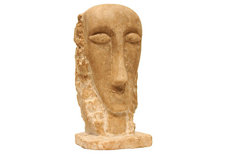 Carved Marble Modernist Sculpture