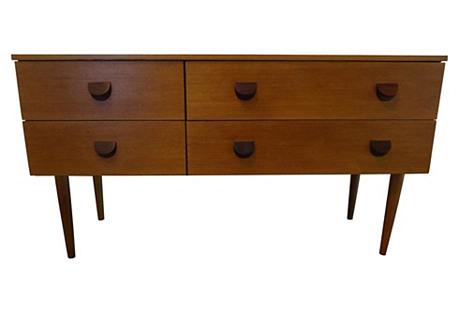 Four-Drawer Mid-Century Modern Dresser