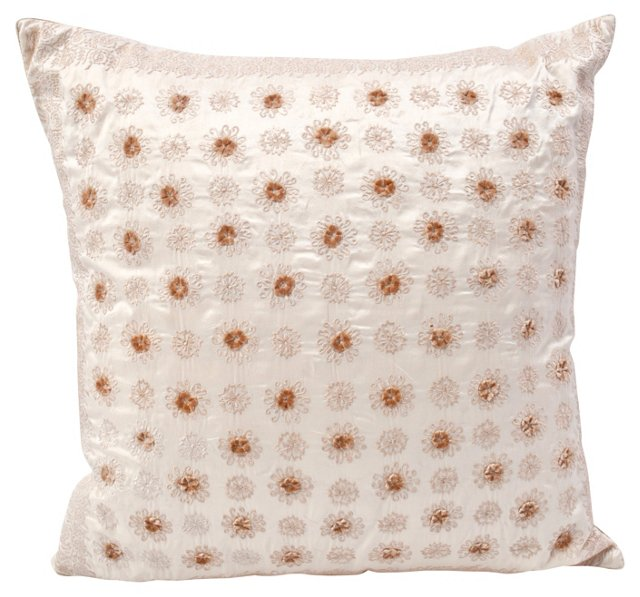 SOLD - Silk Ivory Pillow