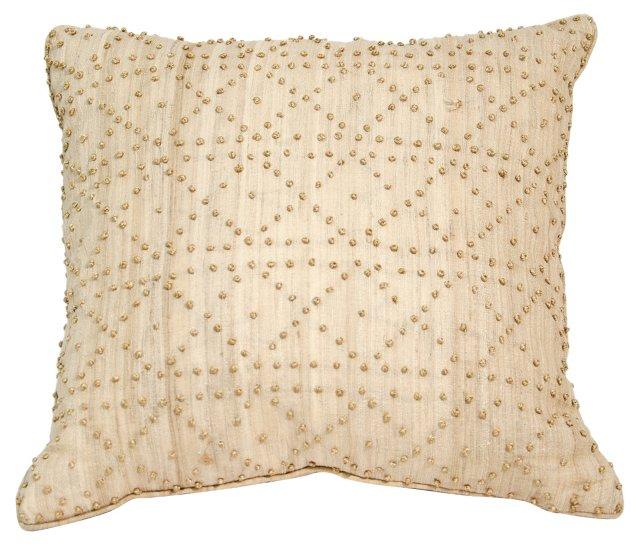 Beige Knots Pillow Sham