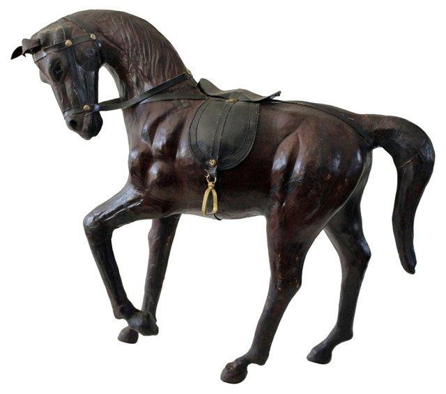Dark Brown Leather Horse
