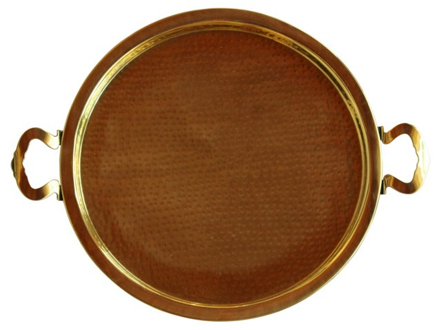 Brass Tray w/ Handles