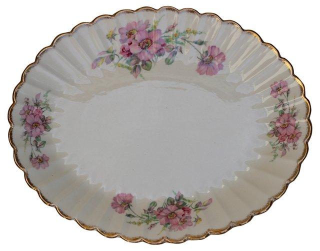 Limoges Wild Rose Platter