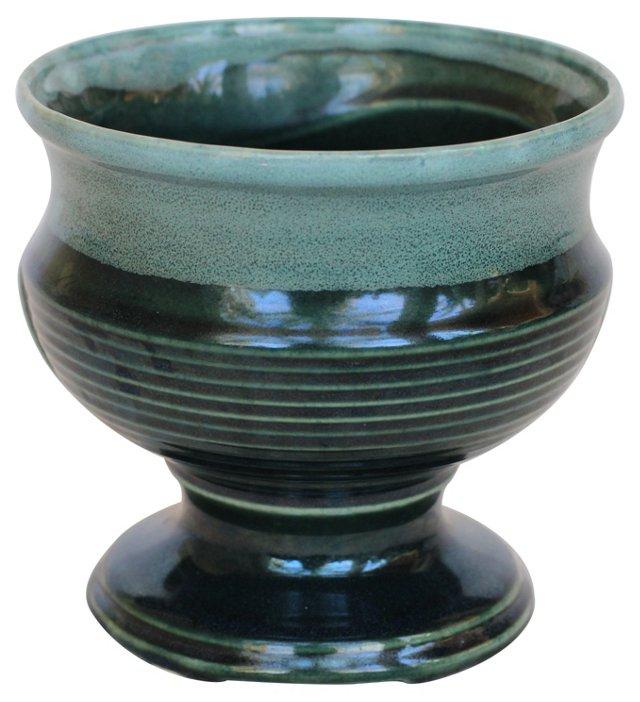Midcentury Teal Vase