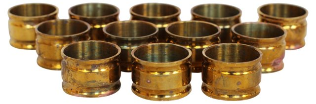 Brass Napkin Rings, S/12