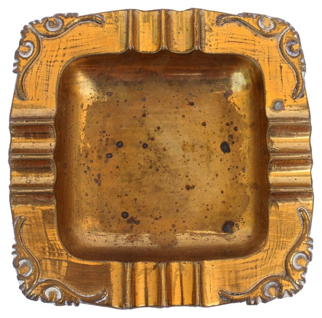 Ornate Brass Ashtray