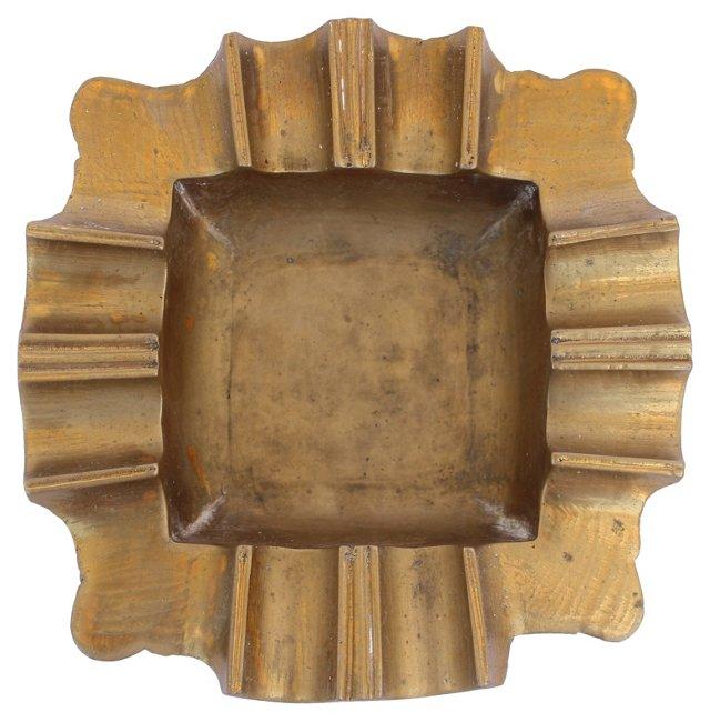 Scalloped Brass Ashtray