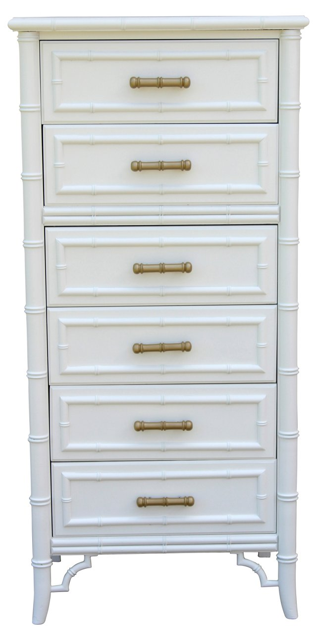 Faux-Bamboo Hand-Painted   Chest