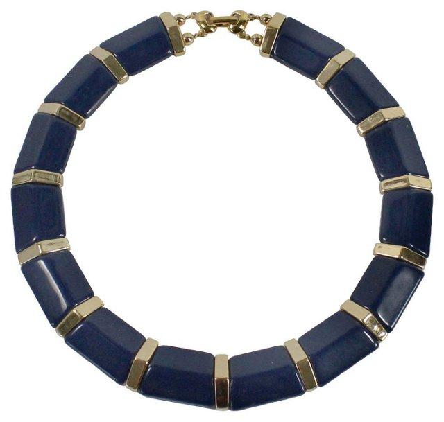 Napier Navy Blue Necklace