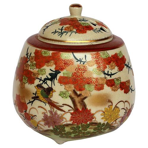 Japanese Imari Orange Pot