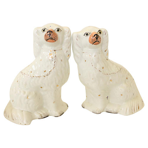 Antique Staffordshire Mantel Dogs, Pair