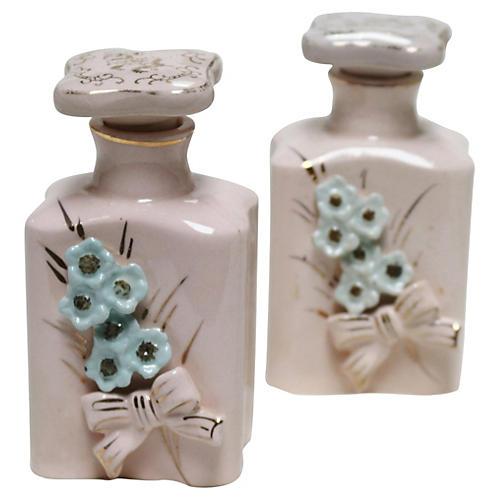 1950s Numbered Perfume Bottles, Pair