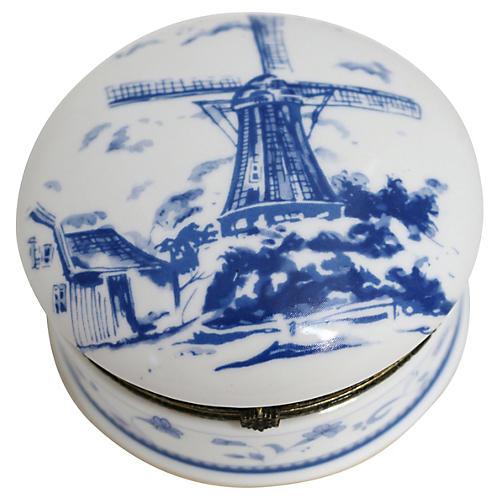Delft-Style Trinket Box