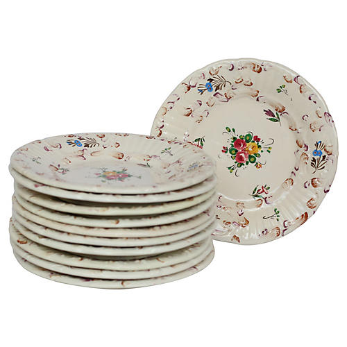 Hand-Painted Italian Plates, S/11