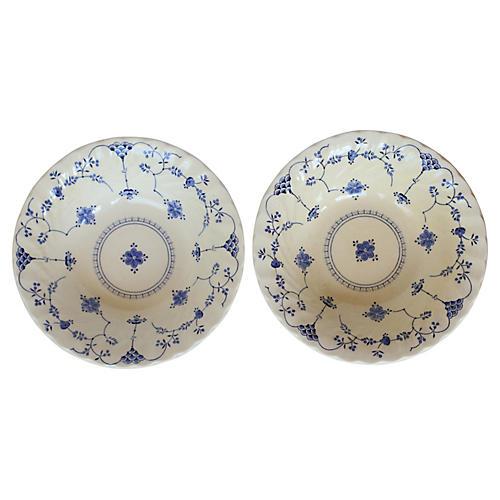 English Staffordshire Plates, Pair