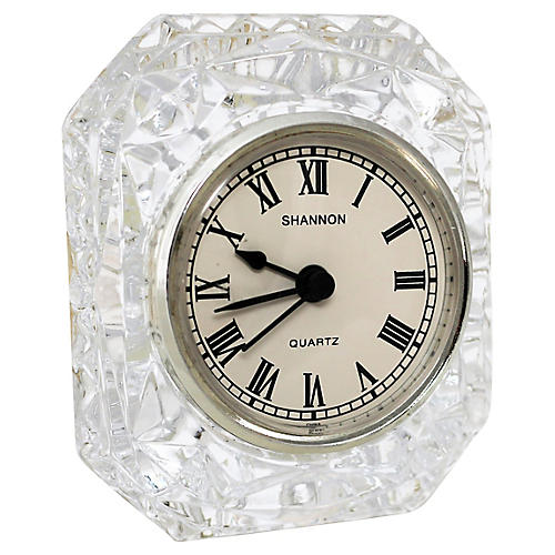 Crystal Shannon Travel Clock
