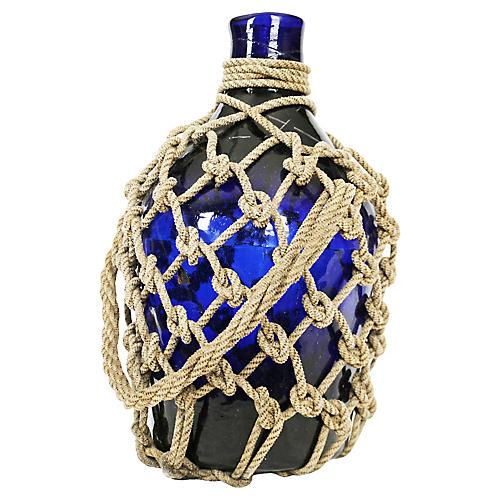 Cobalt Blue Demijohn Bottle
