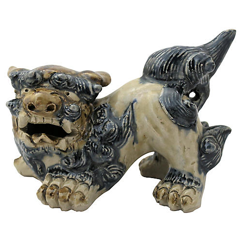 Hand- Crafted Stoneware Foo Dog