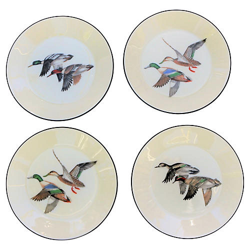 Lenox Dessert Duck Plates, S/4