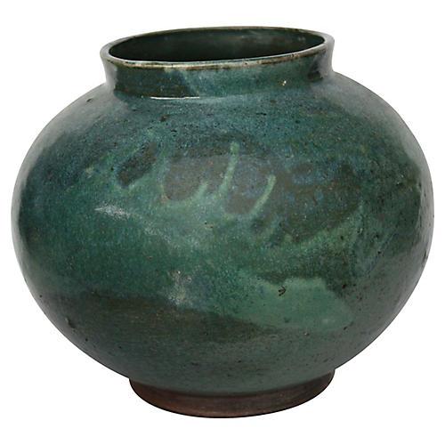 Asian Drip Glaze Vase