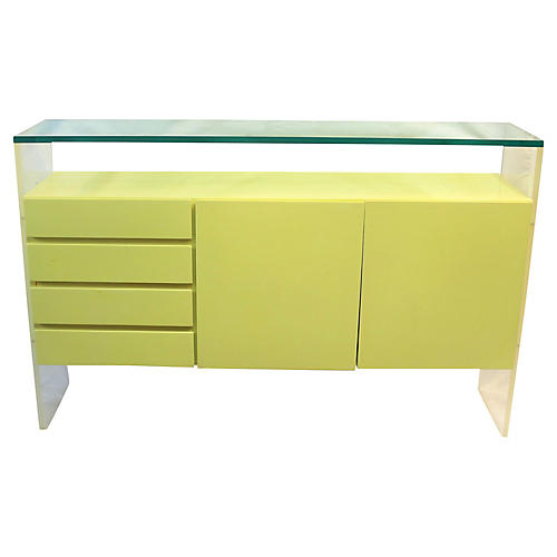 Midcentury Lacquer & Lucite Buffet
