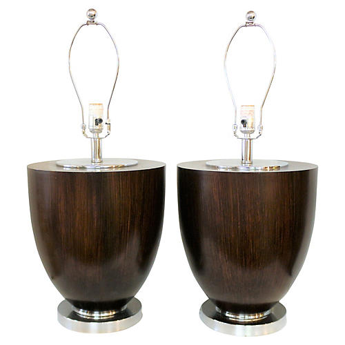 Art Deco-Style Table Lamps, Pair