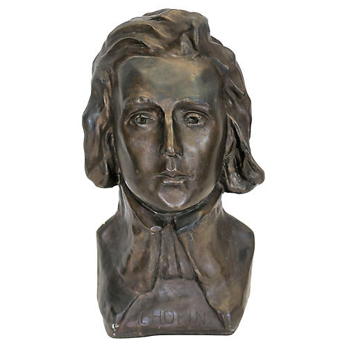 Artisan Signed Chopin Bust