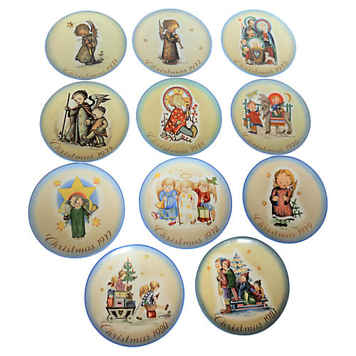 1971-1981 West German Christmas Plates