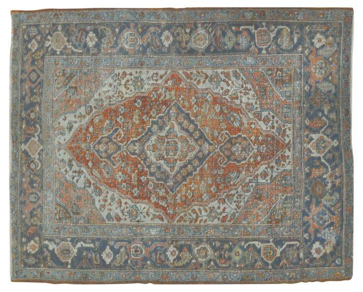 "Antique Persian Heriz, 6' x 4'6"""