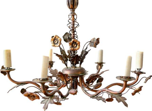 Brass Floral Chandelier