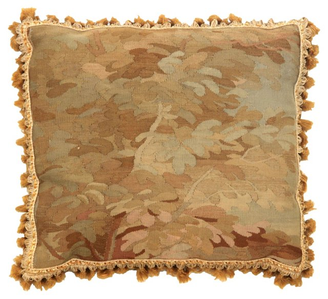 Antique Foliage Tapestry Pillow