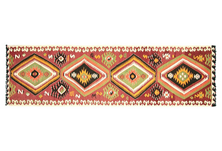 Turkish Kilim Runner, 11'3
